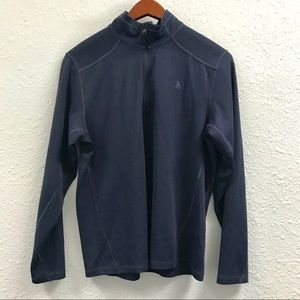 The North Face Navy quarter zip pullover size S